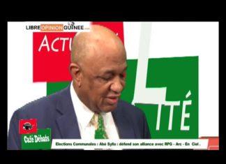 Ibrahima Abé Sylla de la NGR dans café débat