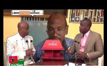 Aboubacar Soumah du SLECG dans Café débat