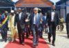 Vincent Bolloré et Alpha Condé à Conakry Guinée