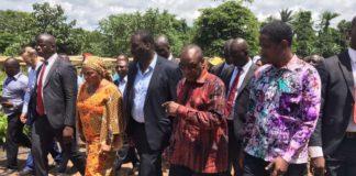Alpha Condé et Mouctar Diallo des nfd à N'Zérékoré