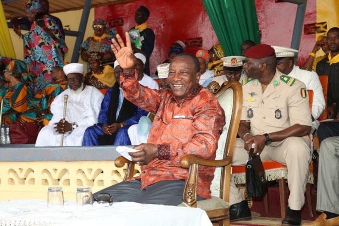 Alpha Conde président de la République de Guinée à Fria