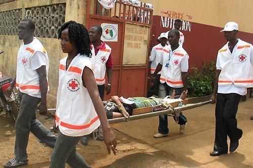 Photo croix rouge guinée Ébola
