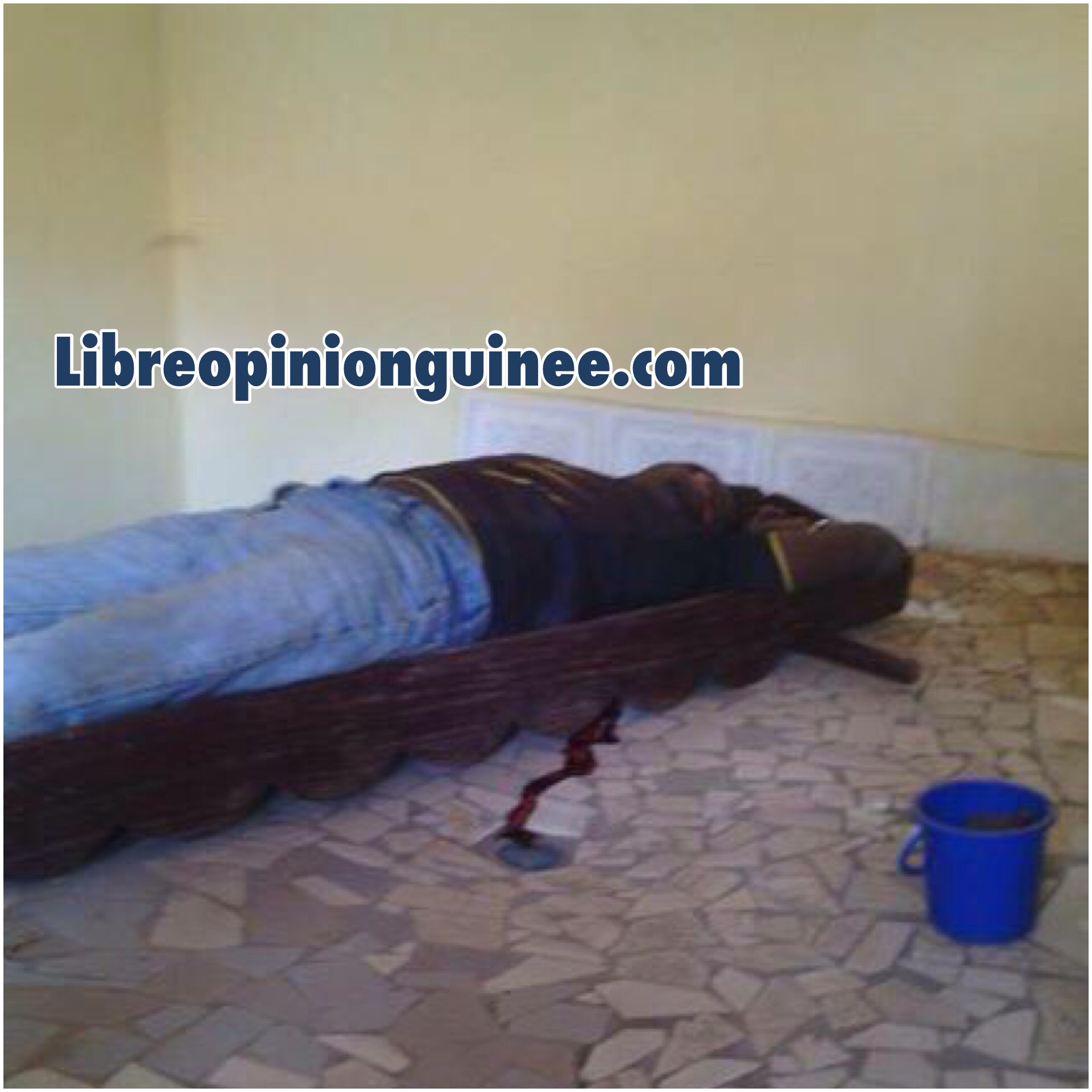 Photo d'un jeune assassiné à conakry