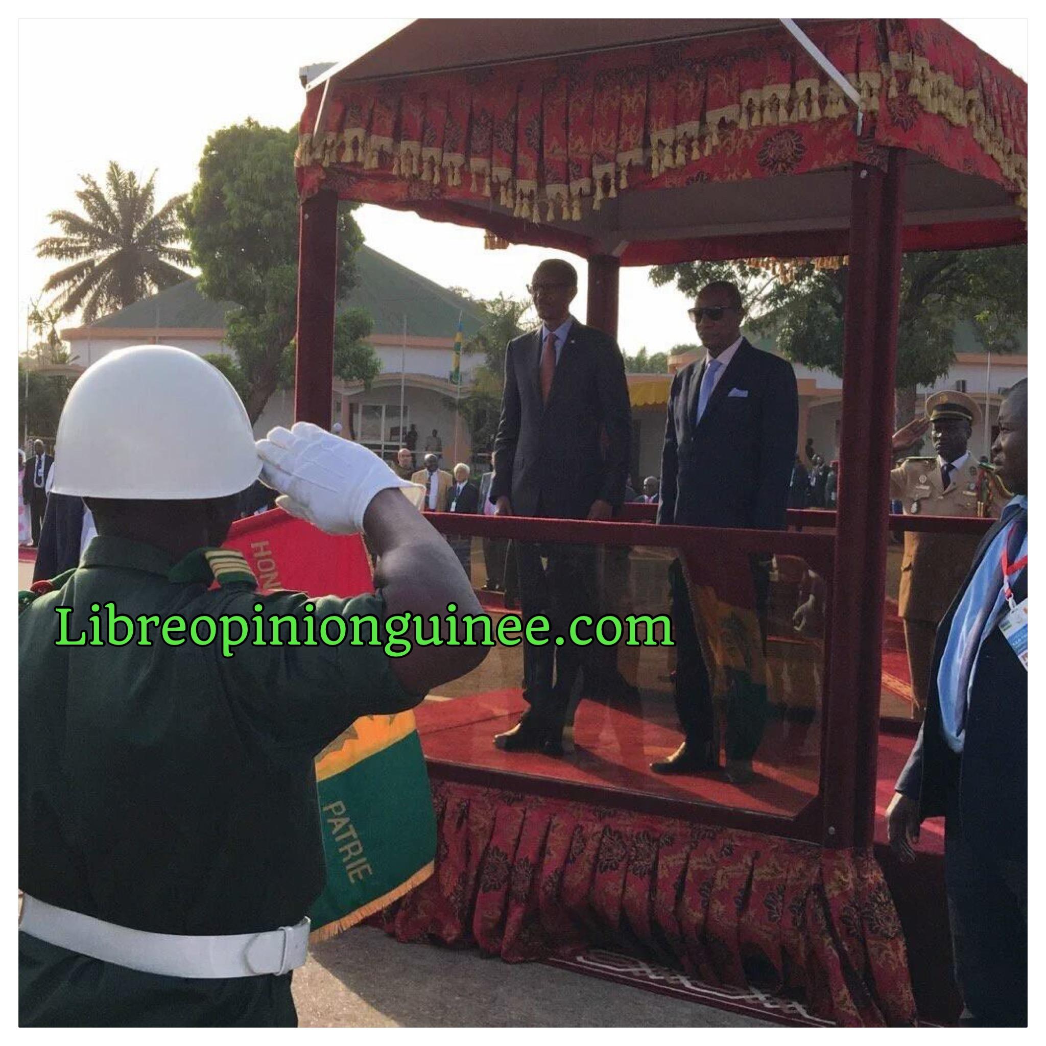 Alpha Conde et paul Kagamé