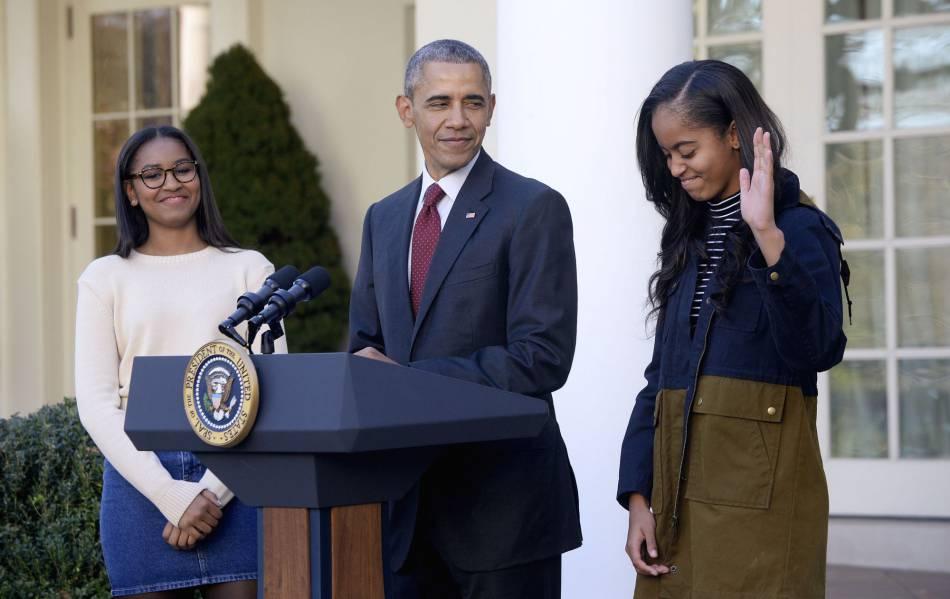 Barrack Obama et ses filles