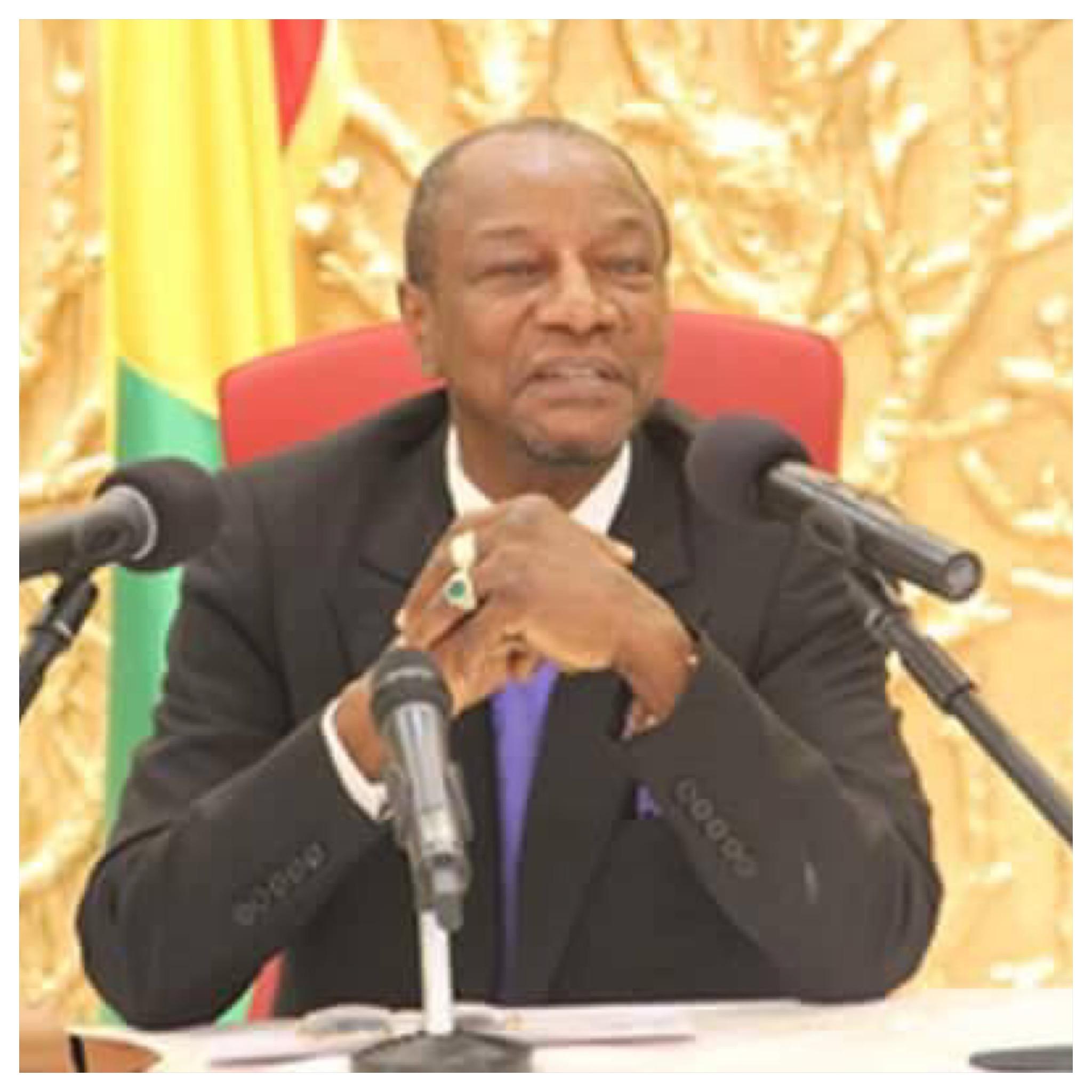 Alpha Conde President de Guinér conakry