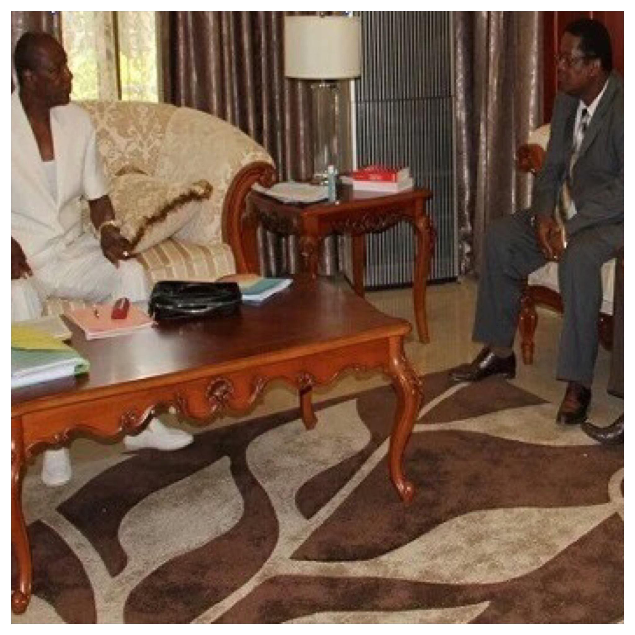Alpha Conde et les syndicalistes guinéen