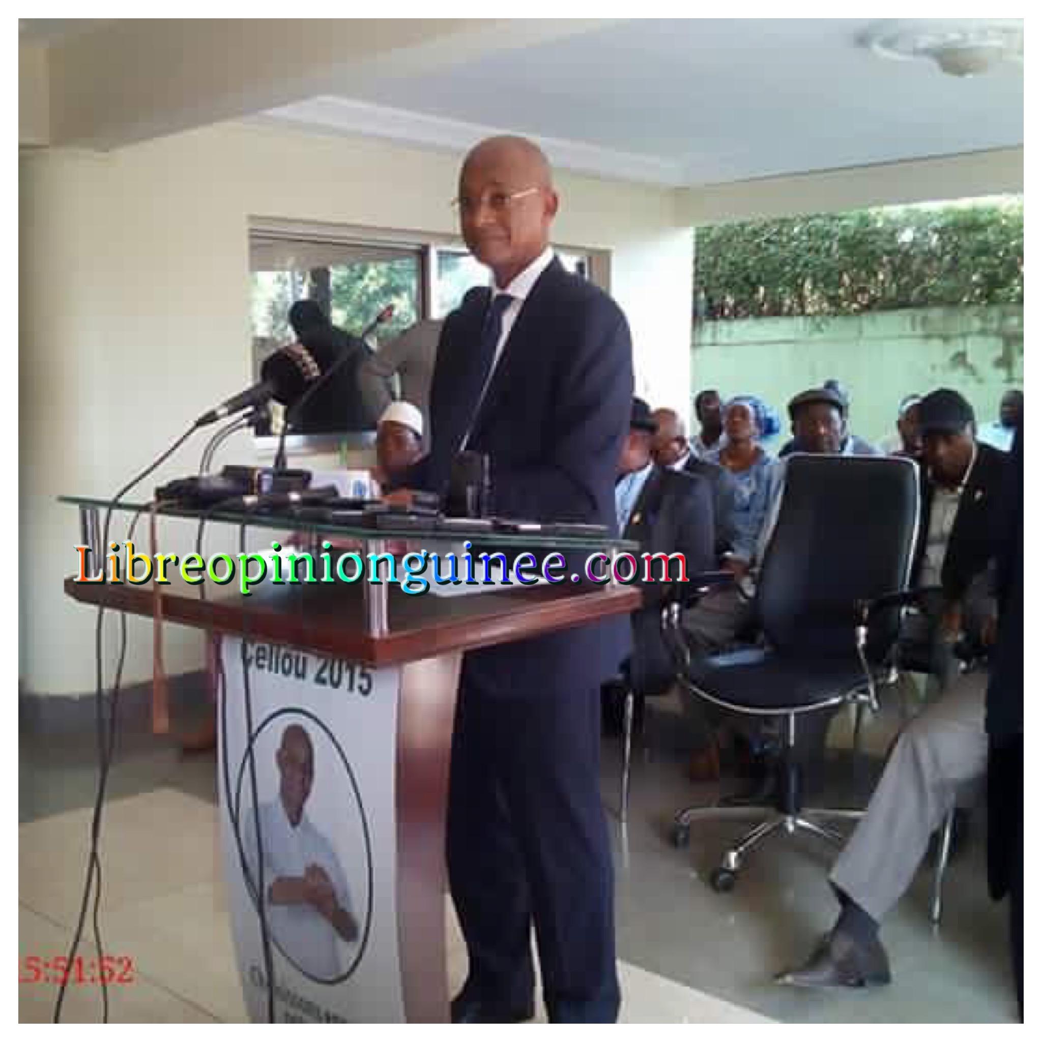Cellou Dalein Diallo ufdg Conference de presse CBG