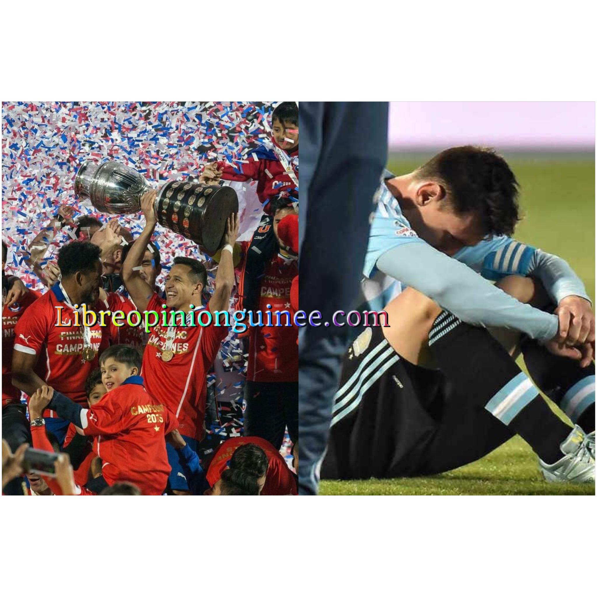 Copa final Messi perd contre le Chili