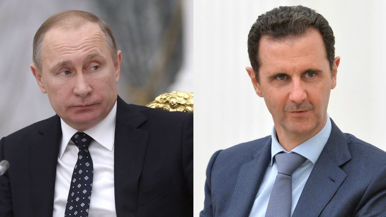 Poutine et Bachar al Assad