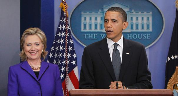 Barrack Obama et Hillary