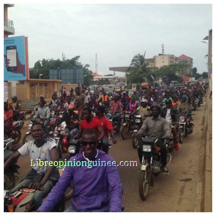 Grève des taxis motards conakry
