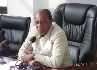 Alpha Conde President de la république de Guinée