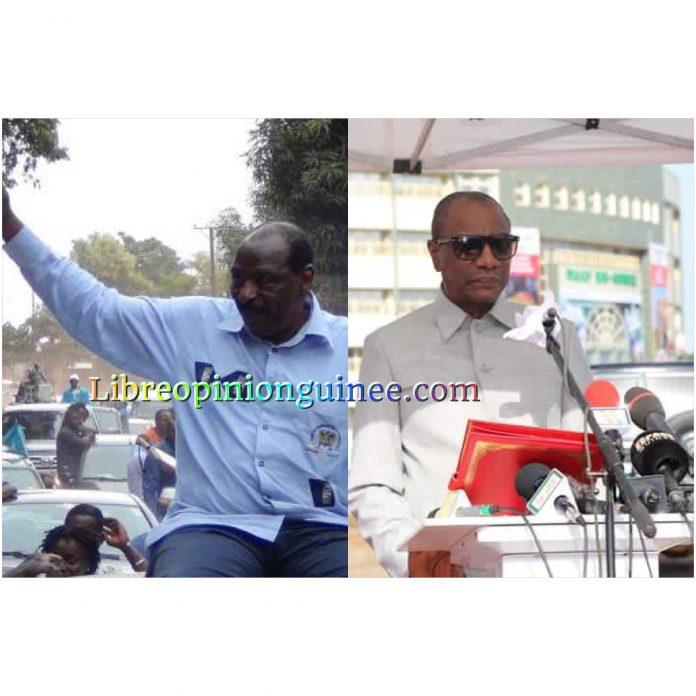 Alpha Conde et Mamadi Diawara yaourt Guinée