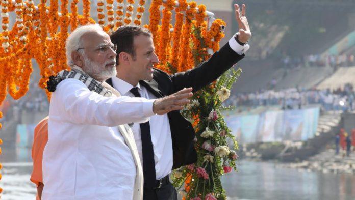Emmanuel Macron et le premier ministre indien