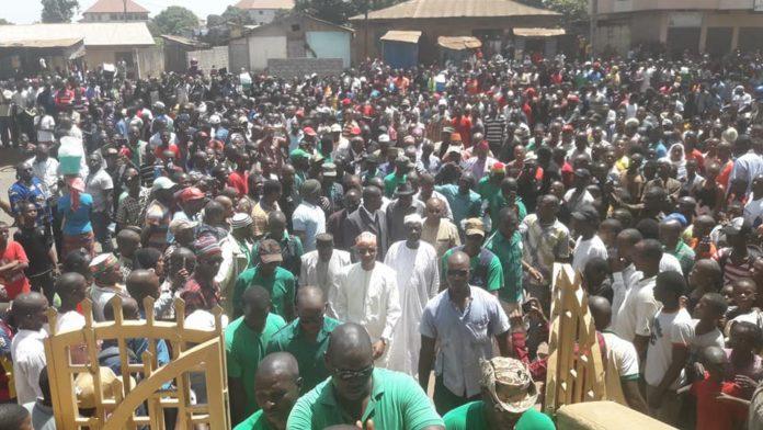Cellou Dalein au funérailles du jeune Boubacar Sidy Diallo tué par un gendarme