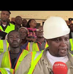 Grève au port autonome de Conakry des syndicalistes bloque le port