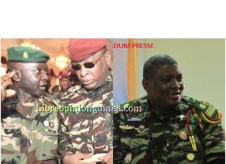 Le général Nouhou Thiam et le commandant Sekou Resco Camara