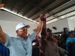 Cellou Dalein Diallo et Elhadj Momo Bangoura candidat indépendant à Coyah