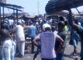 Incendie au marché de Madina