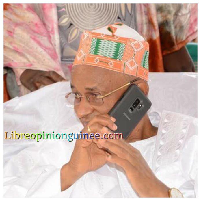 Elhadj Cellou Dalein Diallo président de l'ufdg depuis Mali Yembérin
