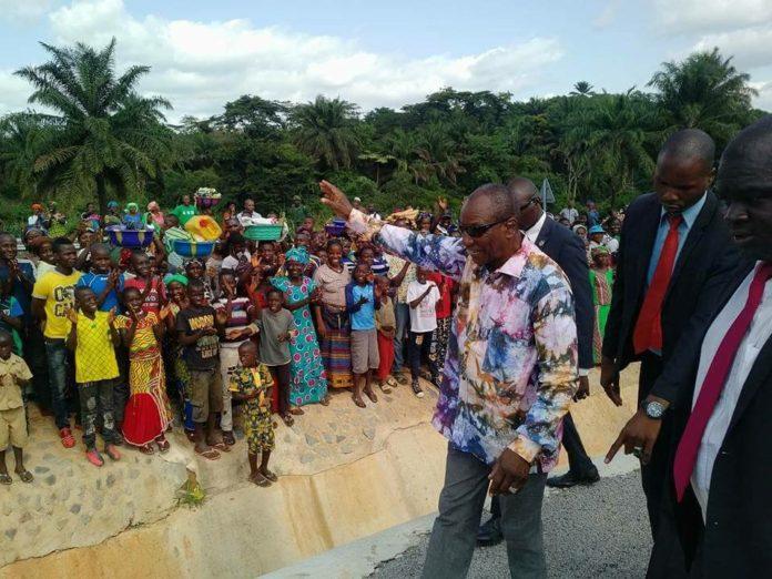 Alpha Condé président de la République de Guinée en Guinée forestière