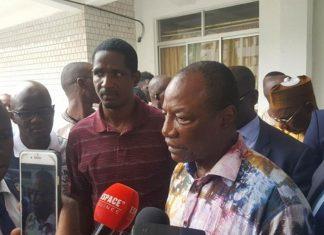 Alpha Condé, Président de la République aux chevets des journalistes accidentés