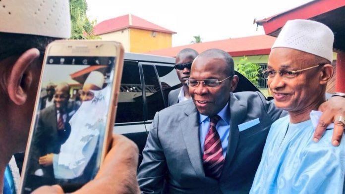 Cellou Dalein Diallo et Kassory Fofana premier ministre au QG de l'ufdg