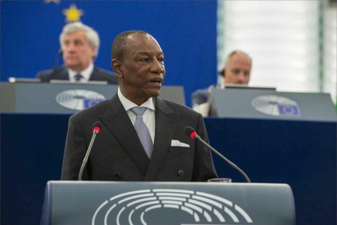 Alpha Condé au parlement européen