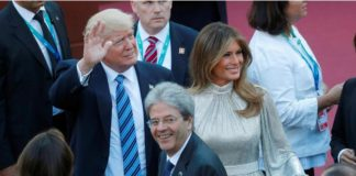 Donald et Melania Trump au G7 de Taormina, en Sicile, en mai 2017. Philippe Wojazer / Reuters