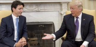 Justin Trudeau et Donald Trump au sommet du G7 au canada