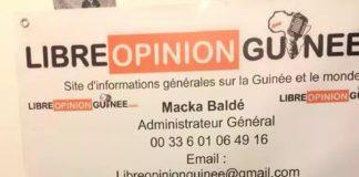 Alhouseini Makanera Kaké ancien ministre et porte parole de l'opposition républicaine au siège de libreopinionguinee à paris