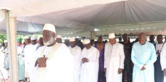 Alpha Condé avec l'imam Saliou Camara fete l'Aid