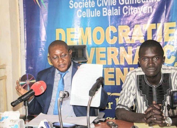 L'avoc Me Salifou BEAVOGUI et Sékou Koundouno du balai Citoyen