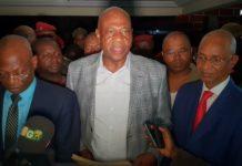 Amadou Damaro Camara et Cellou Dalein Diallo au siège de l'ufdg