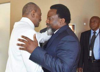 Alpha Condé président guinéen et Joseph Kabila président du Congo