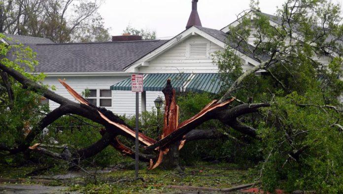 Wilmington en Caroline du Nord, le 14 septembre 2018 après le passage de l'ouragan Florence.