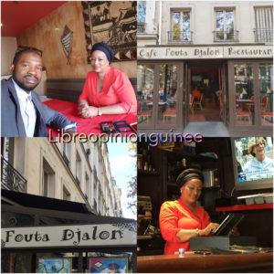 Oumou Barry du restaurant le Foutah Djallon à Paris en interview avec Macka Balde