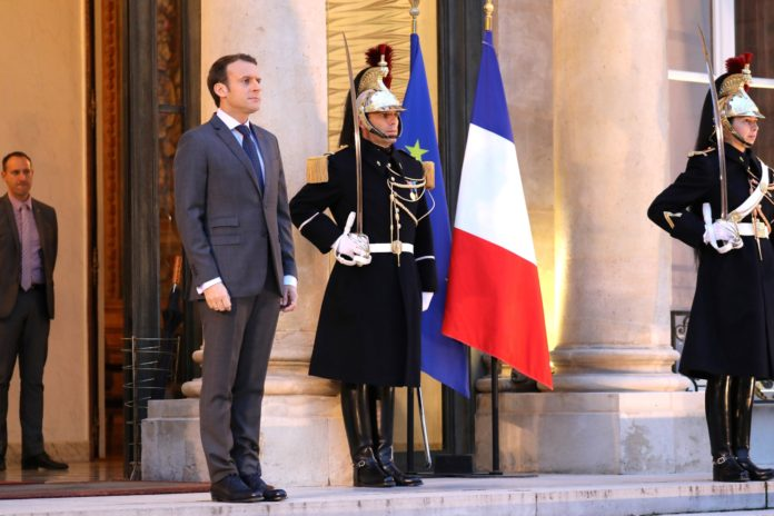 Emmanuel Macron à l'Elysée