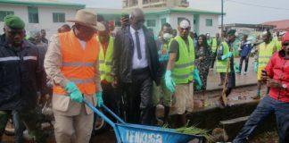 Campagne d'assainissement 01 Septembre 2018 Kassory Fofana premier ministre