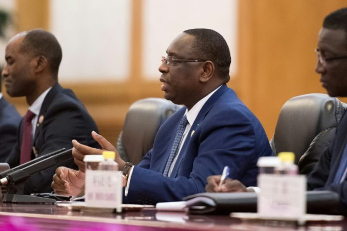 Le président sénégalais Macky Sall en chine
