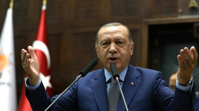 Le président de la Turquie Recep Tayyip Erdogan, à Ankara, le 30 octobre 2018 [ADEM ALTAN / AFP/Archives]