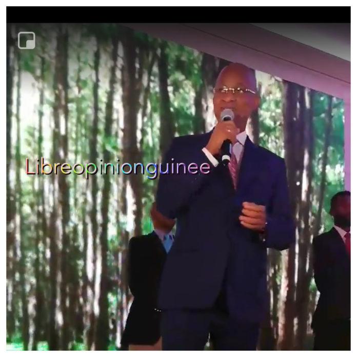 Cellou Dalein Diallo lors de la soirée talents de Guinée à paris