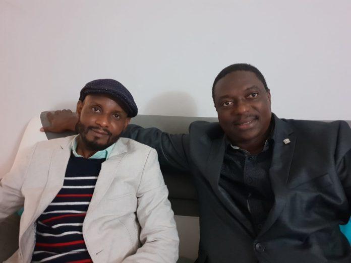 Talibé bah vice-président du bloc libéral et Ibrahima Diao Diallo responsable des guinéens de l'étranger du BL à Paris