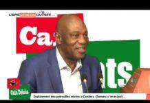 Amadou Damaro Camara du RPG dans café débat