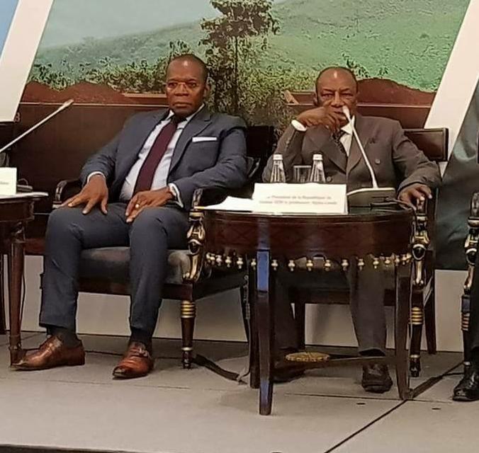 Alpha Condé et le premier ministre Kassory Fofana