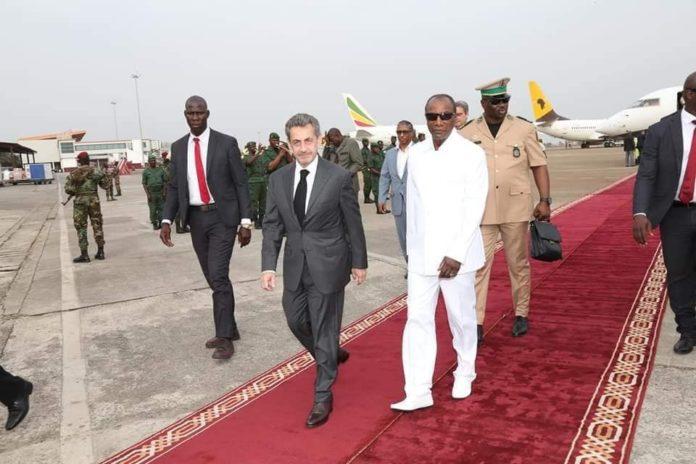Guinée : l'ancien président Francais Nicolas Sarkozy reçu par Alpha Condé