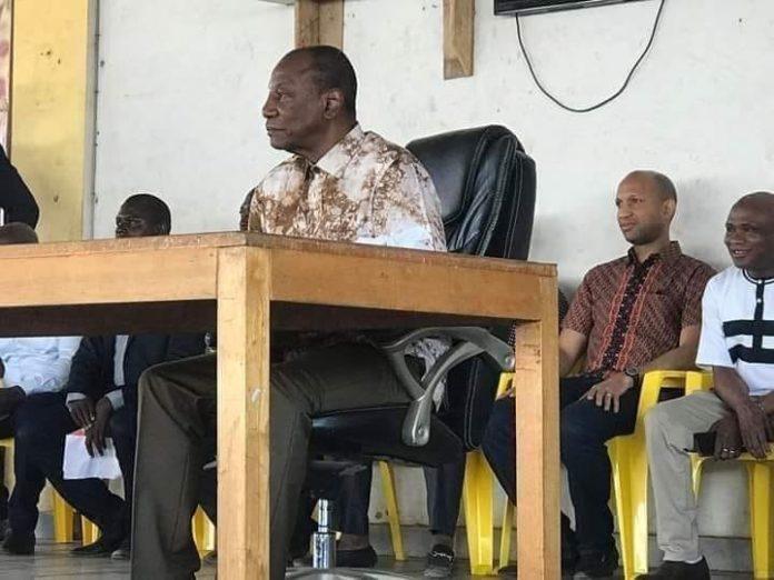 Le président Alpha Condé au siège du RPG dimanche 24 mars 2019