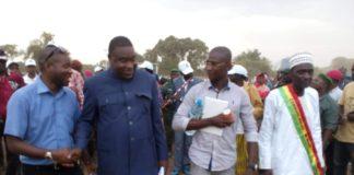 Macka Balde DGA de l'ANVJ et le ministre Mory Sangaré à Maci