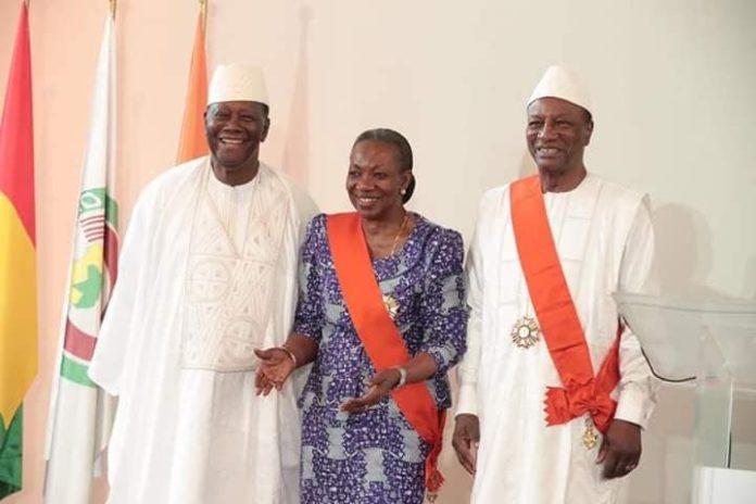 Alpha Condé et Alhasane ouatara à Abidjan